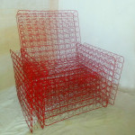 Red mattress chair