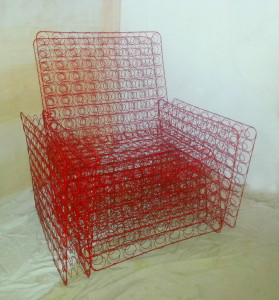 red dream armchair